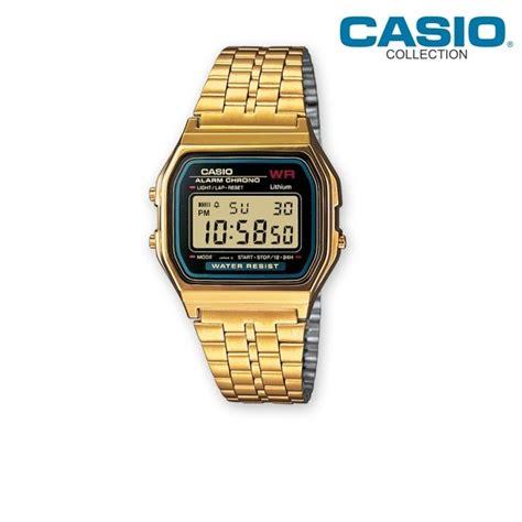 casio dorato orologio unisex vintage dorato casio collection