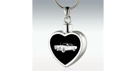 1964 ford mustang inlay sterling silver memorial jewelry