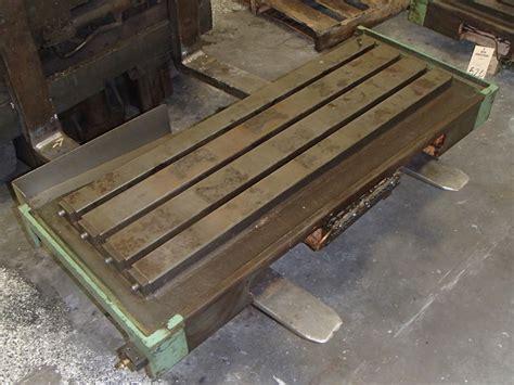 steel t slot table steel 3 slot t slot milling table 43 quot x 13 5 quot x 2 quot btm