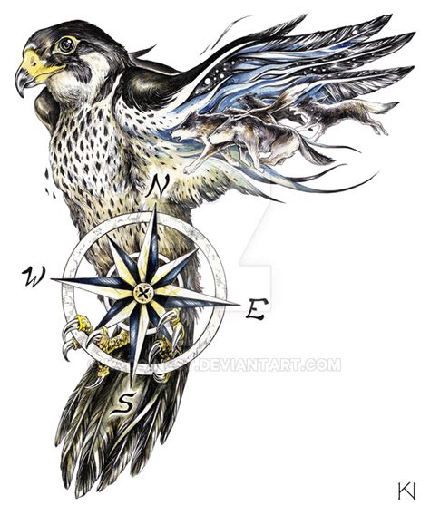 peregrine falcon tattoo design by kaos nest on deviantart