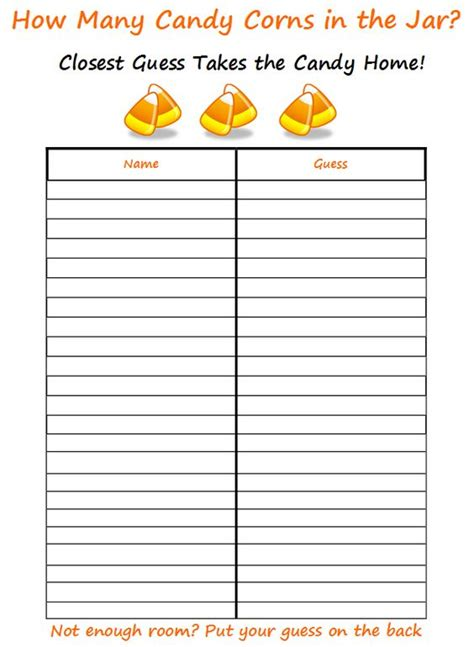 Halloween Estimation Printable Halloween Pinterest Candy Jars The O Jays And Halloween Guessing Template