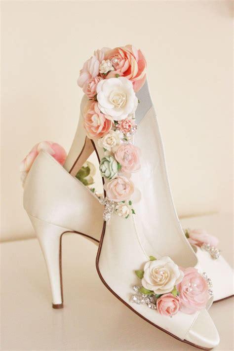 blush flower shoes whimsical woodland blush flower bridal shoes by