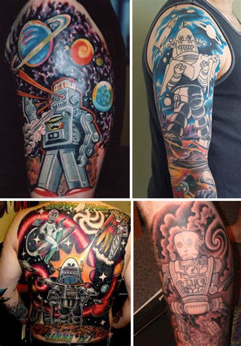 robot tattoo robot tattoos awesome works of mechanical urbanist