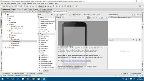 android studio layout rendering problems android studio 1 4 1 rendering problems stack overflow