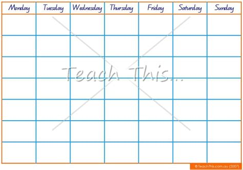 printable fill in monthly calendar 5 best images of classroom calendar calendar number