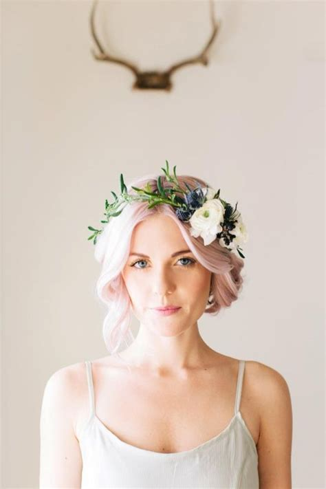 hairstyles with crowns 15 hairstyles with flower crowns for wedding pretty designs