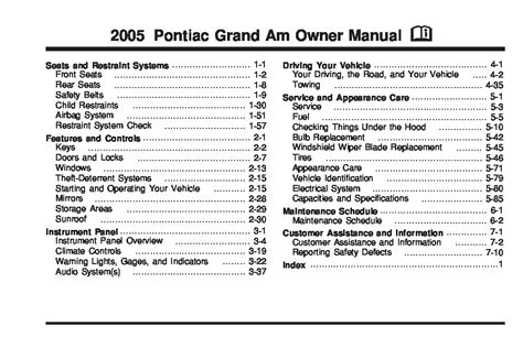 service manual old car repair manuals 2005 pontiac grand am electronic valve timing service