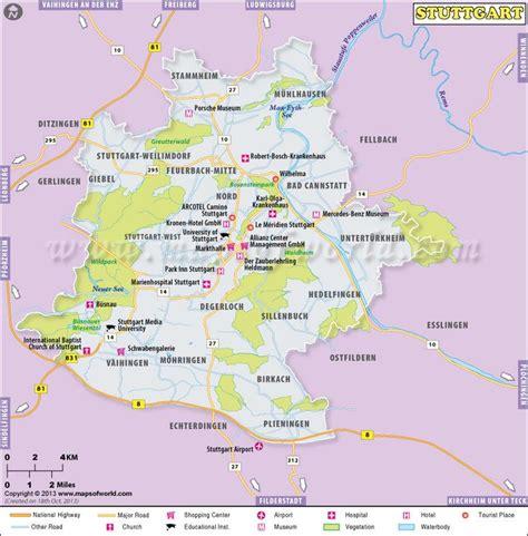 stuttgart map germany map of stuttgart germany http www mapsofworld