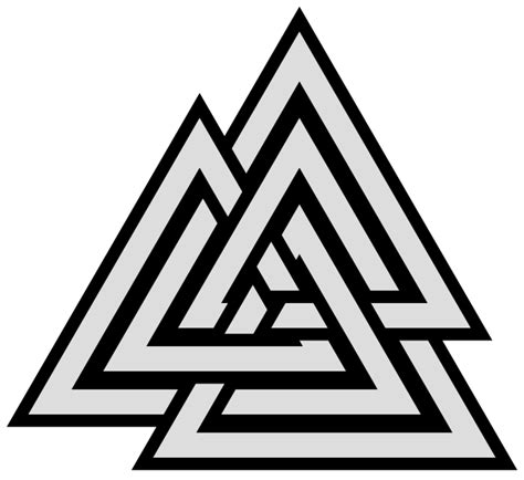 Decorative Scale File 9crossings Knot Symmetric Triangles Quasi Valknut Svg