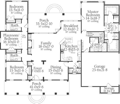 Square Living Room Floor Plans Country Style House Plans 2098 Square Foot Home 2