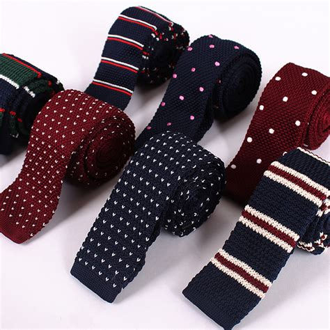 tie knitting knitting ties for 2017 new fashion flat knit tie slim