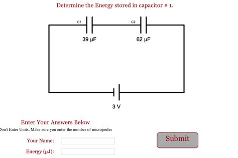 capacitor energy storage circuit capacitors series circuit