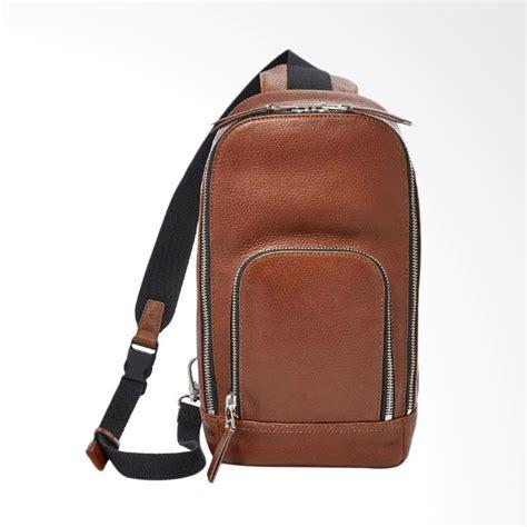 Tas Fossil Slingbag 1735 jual fossil mayfair sling bag cognac tas selempang pria mbg 9277c222 harga kualitas