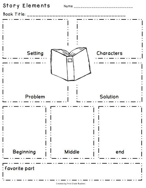 story setting template story elements organizer freebie i the layout of this g o