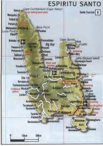santo map espiritu santo island map espiritu island vanuatu mappery