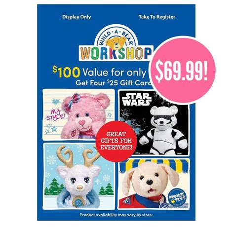 Build A Bear Discount Gift Cards - build a bear black friday deal on gift cards