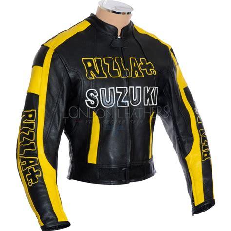Suzuki Leather Jacket by Rizla Suzuki Black Leather Jacket