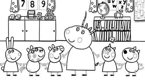 peppa pig and friends coloring pages 30 printable peppa pig coloring pages you won t find anywhere