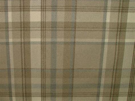 tartan curtains elgin taupe wool effect washable thick tartan curtain fabric