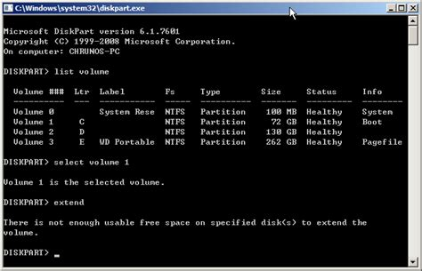 diskpart format virtual disk service error how to extend volume when diskpart fails to do that