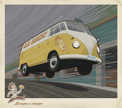 volkswagen van art vw van poster volkswagen car art print vintage pictures