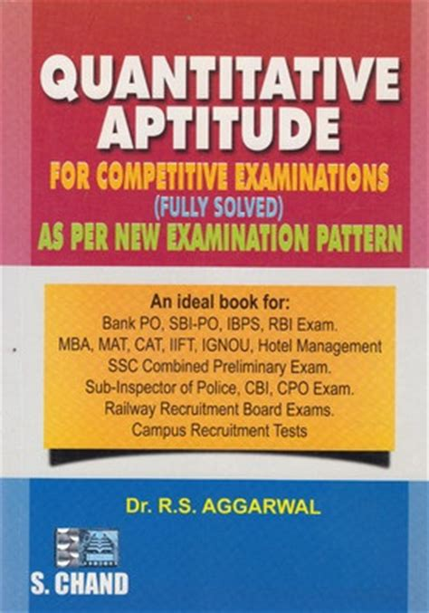 Mba Entrance Book By Rs Aggarwal by Rs Aggarwal Quantitative Aptitude Book Pdf Free