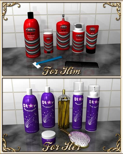 his and hers bathroom decor bathroom accessories a doodle design creation at hivewire 3d