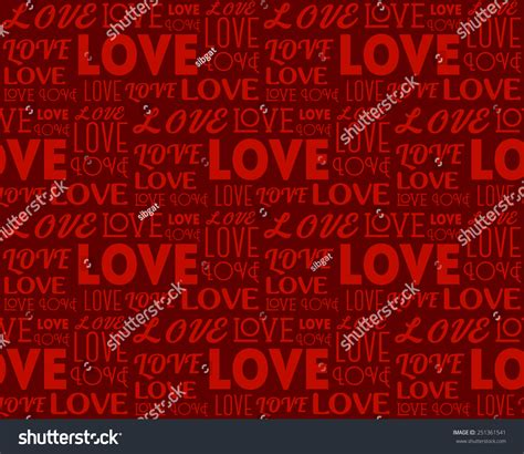 repeat pattern font repeating word love different fonts seamless stock