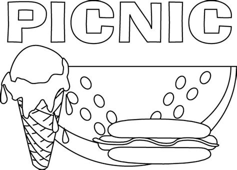 picnic coloring pages preschool picnic coloring pages pinterest coloring pages