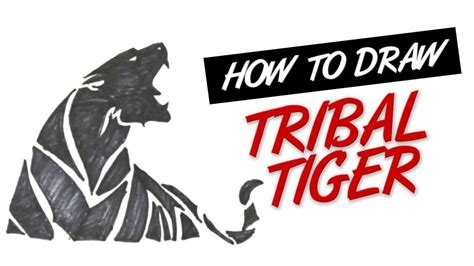 how to draw tribal tiger tattoo design 4 youtube