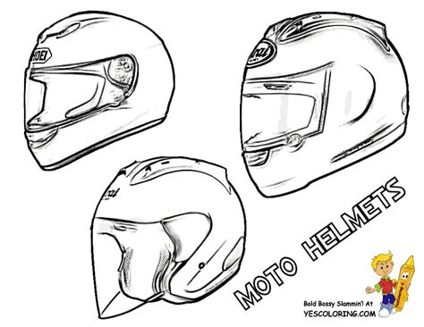 atv helmet bike coloring pages