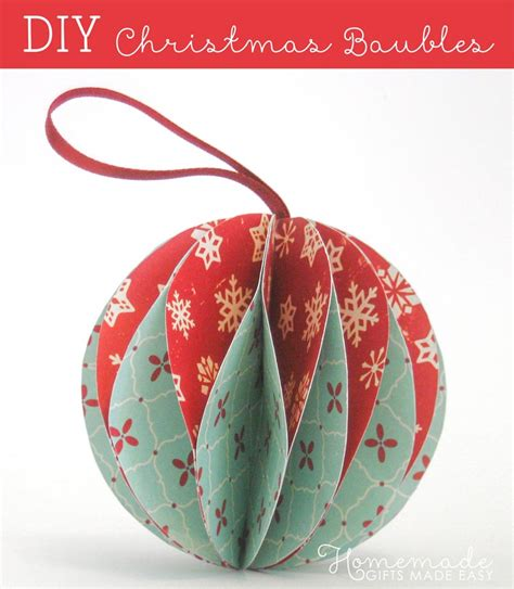 How To Make Easy Paper Ornaments - easy to make ornaments