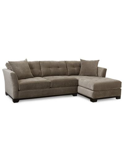 sectional sofa macys elliot fabric microfiber 2 pc chaise sectional sofa