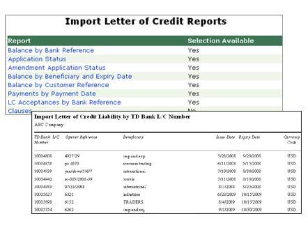 Td Bank Letter Of Credit Application Td Bank Trade Demo