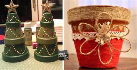 vasi di terracotta colorati vasi di terracotta decorati per natale 20 idee tutorial