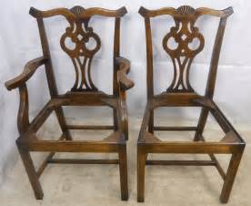 Antique Style Dining Chairs Set Of Twelve Antique Chippendale Style Oak Dining Chairs Sold