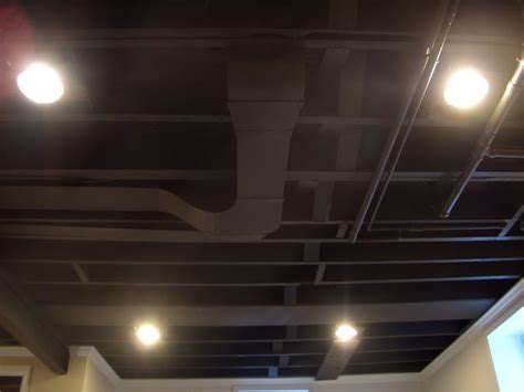 Cool Home Creations Finishing Basement Black Ceiling Ceiling Finish Options