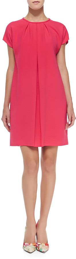 hot swing kate spade new york crepe cap sleeve pleated front dress