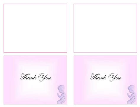 Photo Thank You Card Template Microsoft Publisher by Funeral Programs Funeral Thank You Templates Pink