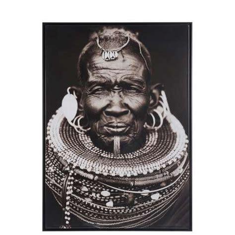 Decoration Murale Noir Et Blanc by Cadre Homme Africain Tribal Noir Et Blanc