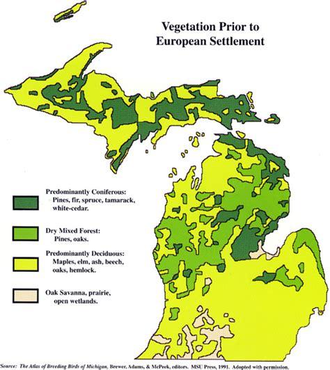 michigan state forest map michigan vegetation