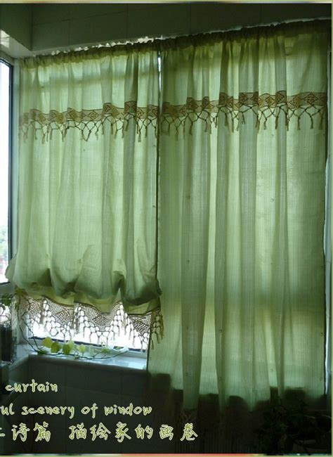 pull up curtains french country cottage green adjustable pull up balloon