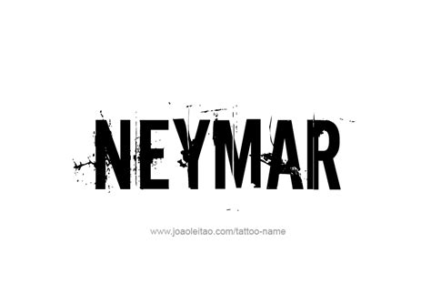 neymar name tattoo designs