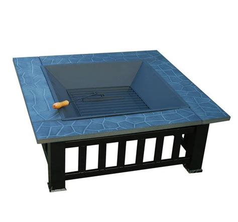 Metal Pit Table 32 Inch Square Outdoor Metal Pit Table