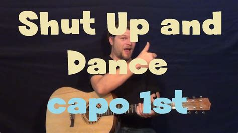 strumming pattern shut up and dance shut up and dance walk the moon guitar lesson how to