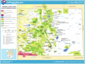 map of colorado map federal lands and indian reservations