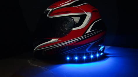 Motorcycle Helmet Light indicator and brake lights on your helmet