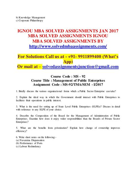 Knowledge Management Notes For Mba by Ignou Mba Solved Assignments 2017