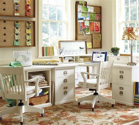 contemporary bright light home office sewing room