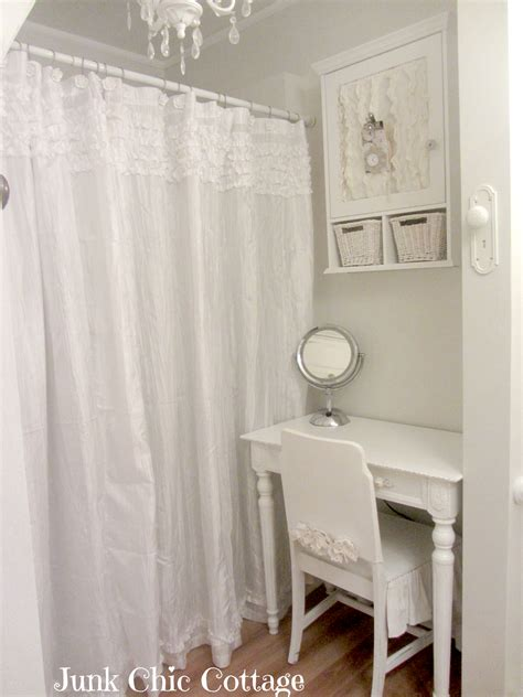 glass shower curtain junk chic cottage second time is the charm